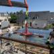 Mise en place d'une toiture en vitrage pour un abri bus à Bouchemaine (49) - Menuiserie Miroiterie Nantaise - Dépannage en vitrerie et miroiterie à Nantes et Ancenis en Loire-Atlantique (44)