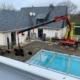 Pose de vitrages isolants sur toiture Pool House à Carquefou (44) - Menuiserie Miroiterie Nantaise - Dépannage en vitrerie et miroiterie à Nantes et Ancenis en Loire-Atlantique (44)
